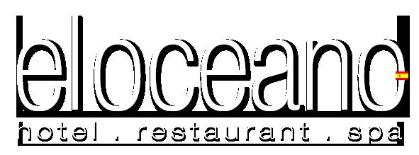 Logo El Oceano Beach Hotel, restaurante, salón de belleza y coctelería.