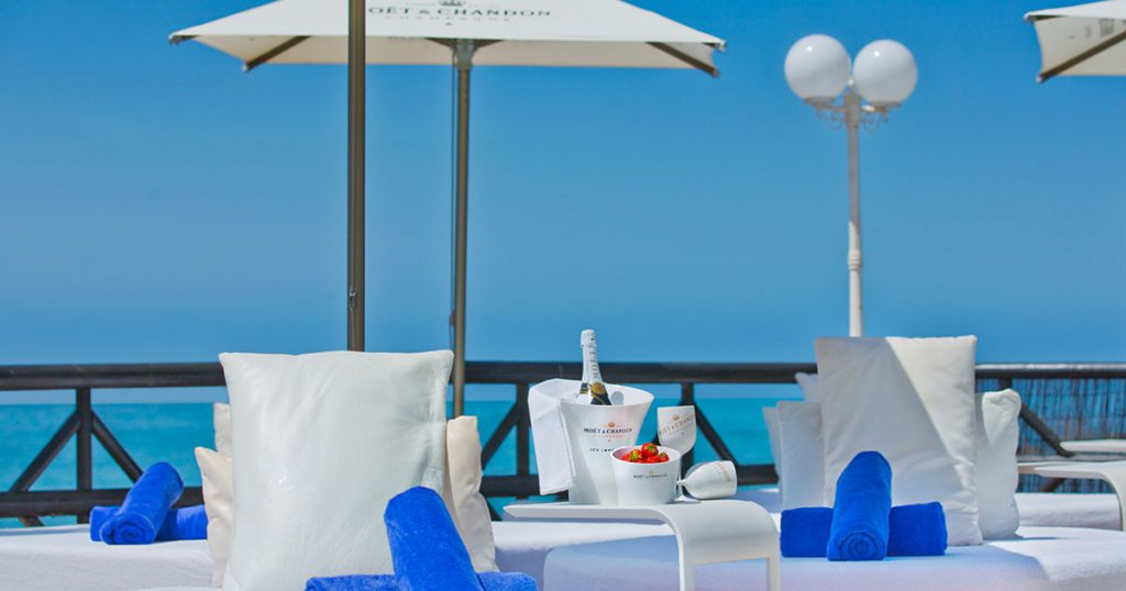 A Touch of Luxury on the VIP Sun Deck at El Oceano Hotel between Marbella and La Cala de Mijas on the Costa del Sol