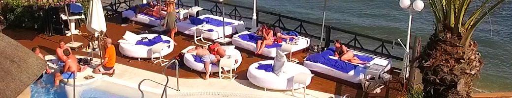 Book your VIP Sun Bed at El Oceano Hotel and Restaurant between Marbella and La Cala on the Costa del Sol