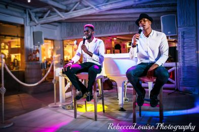 Tmar and RJay Dining Entertainment at El Oceano Restaurant 01