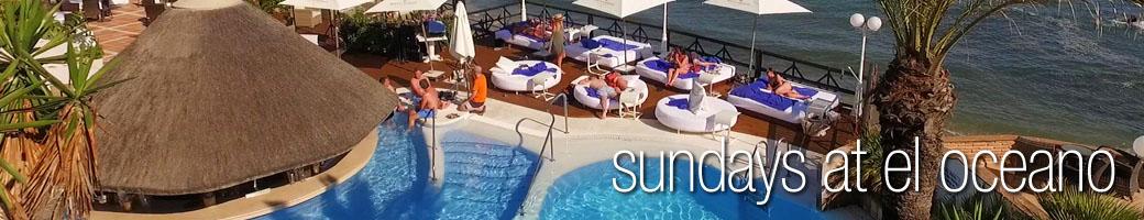 Sundays at El Oceano Restaurant on Mijas Costa, Costa del Sol, Spain