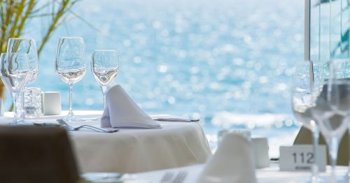 El Oceano Beach Restaurant, Mijas Costa, Costa del Sol, Spain head