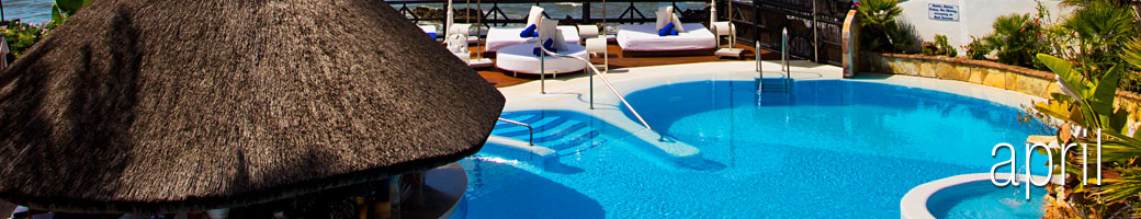 April at El Oceano Luxury Beach Hotel