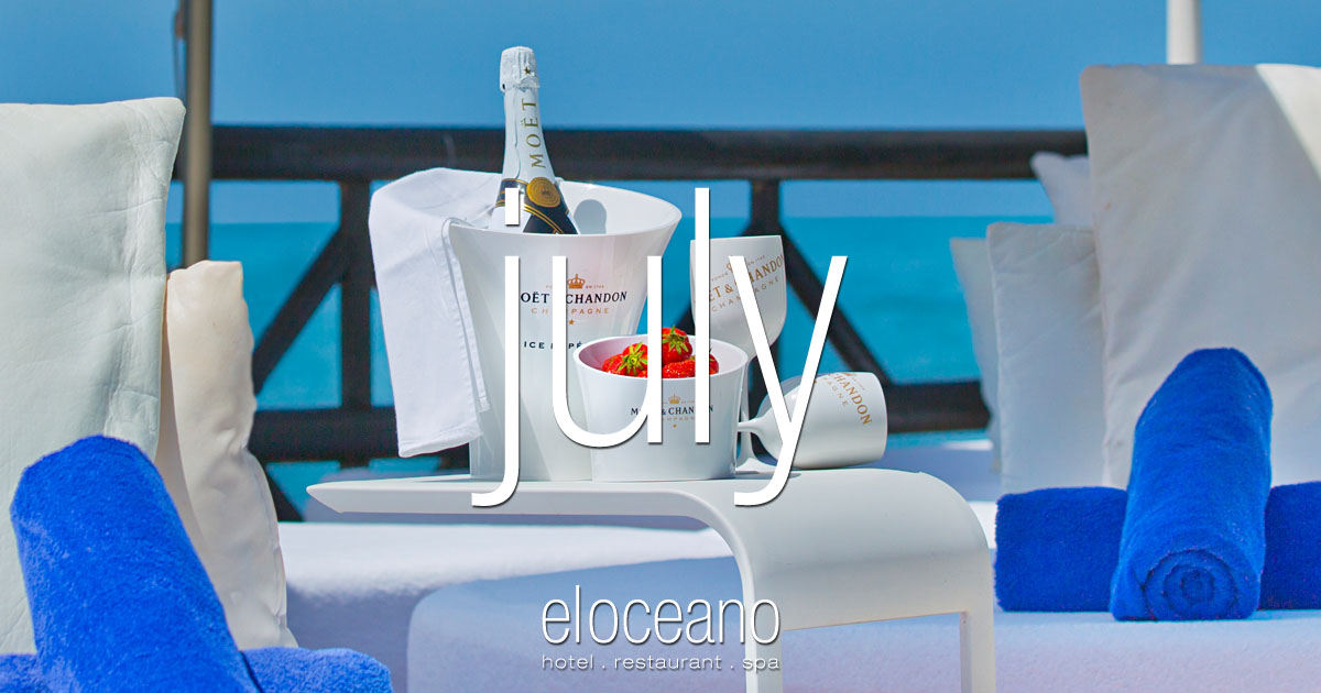 July at El Oceano Luxury Beach Hotel, Mijas Costa, Spain OG01