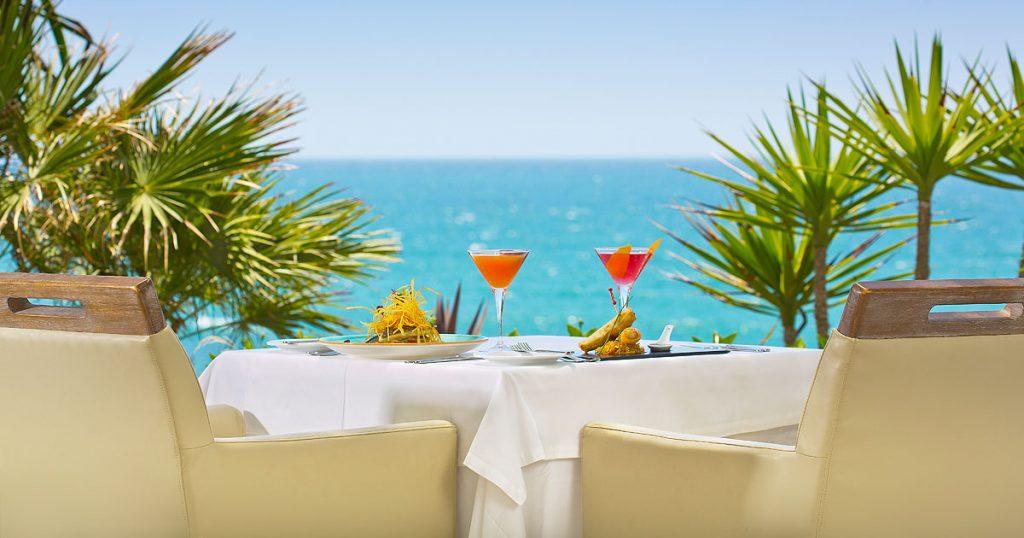 Lunch at El Oceano Restaurant Mijas Costa Spain OG05a