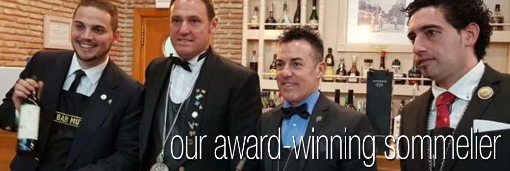 Pino - Award Winning Sommelier and Mixologist at El Oceano Hotel - Mijas Costa Costa del Sol Spain P01