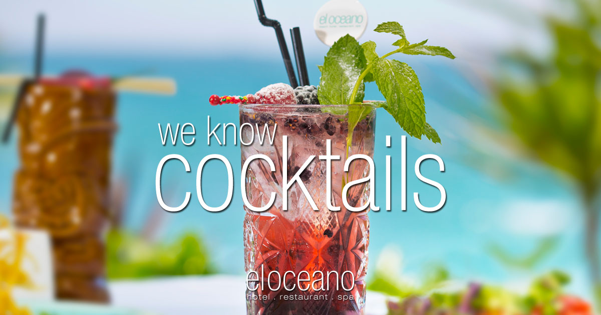 Cocktails at El Oceano Beach Hotel Costa del Sol Spain