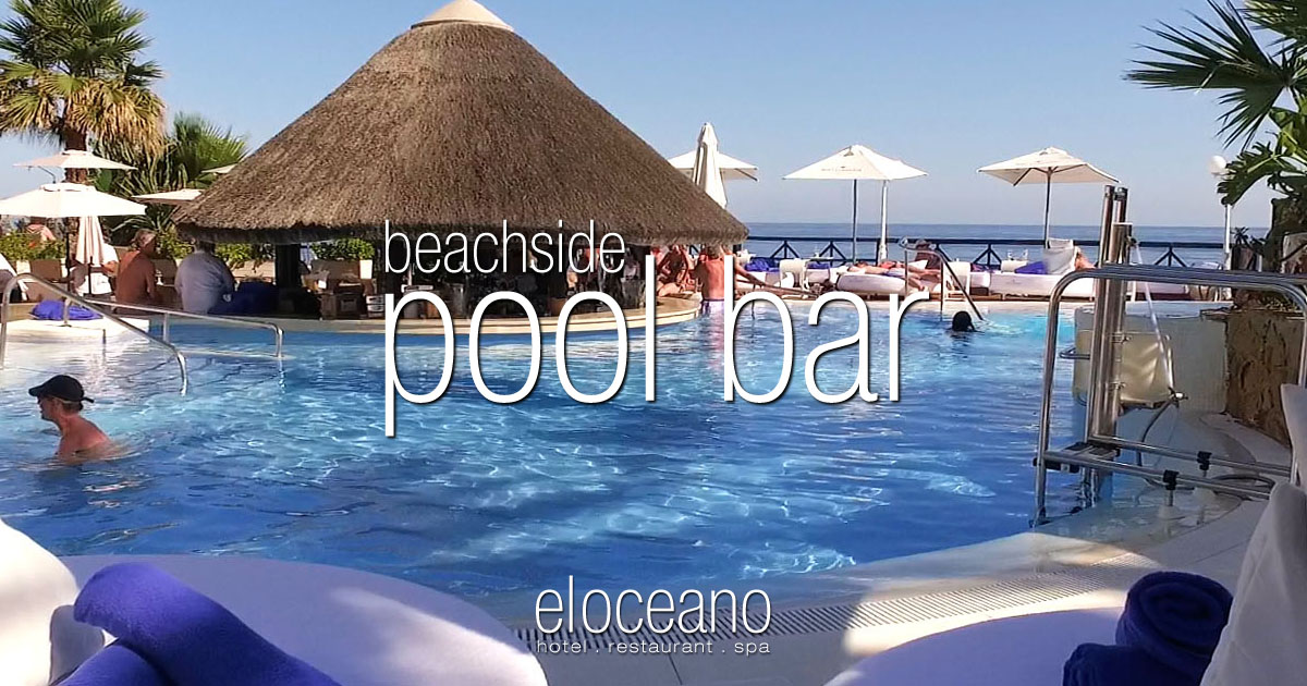 Pool Bar - The Beachside Swim-Up Pool Bar at El Oceano Hotel Mijas Costa Costa del Sol Spain OG01