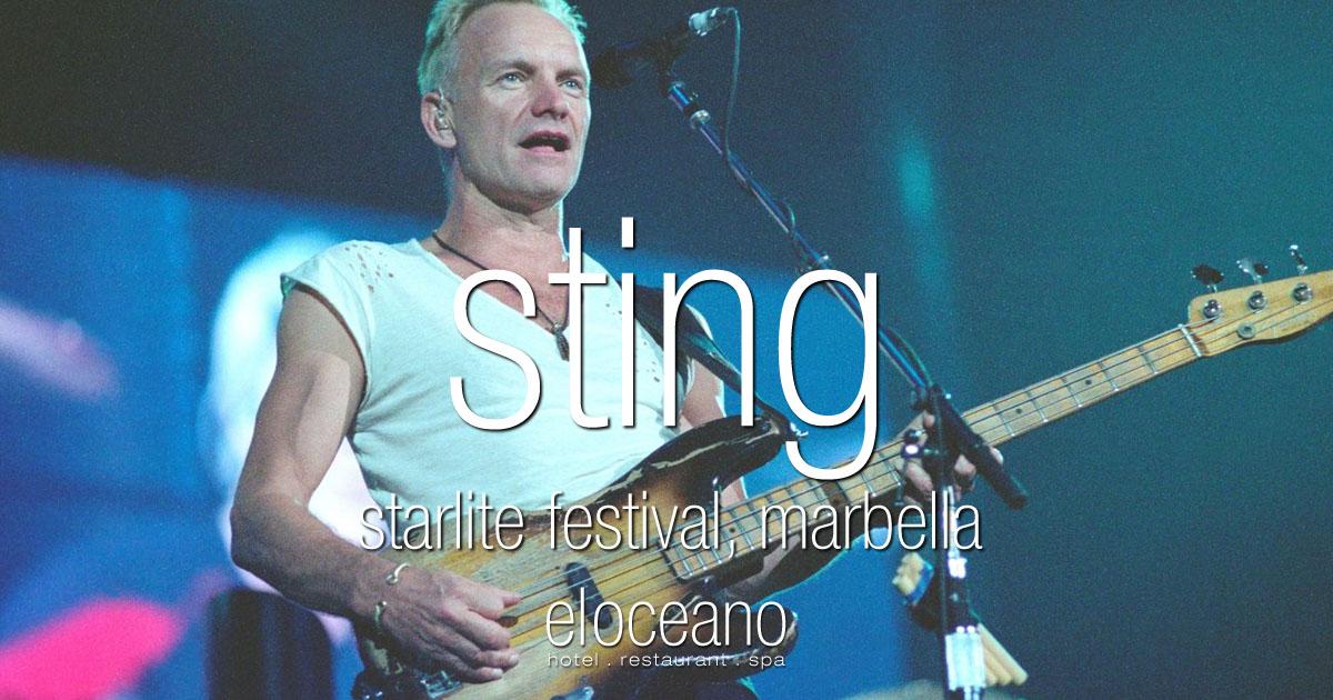 Sting Starlite Festival Marbella El Oceano Hotel Mijas Costa Spain OG01