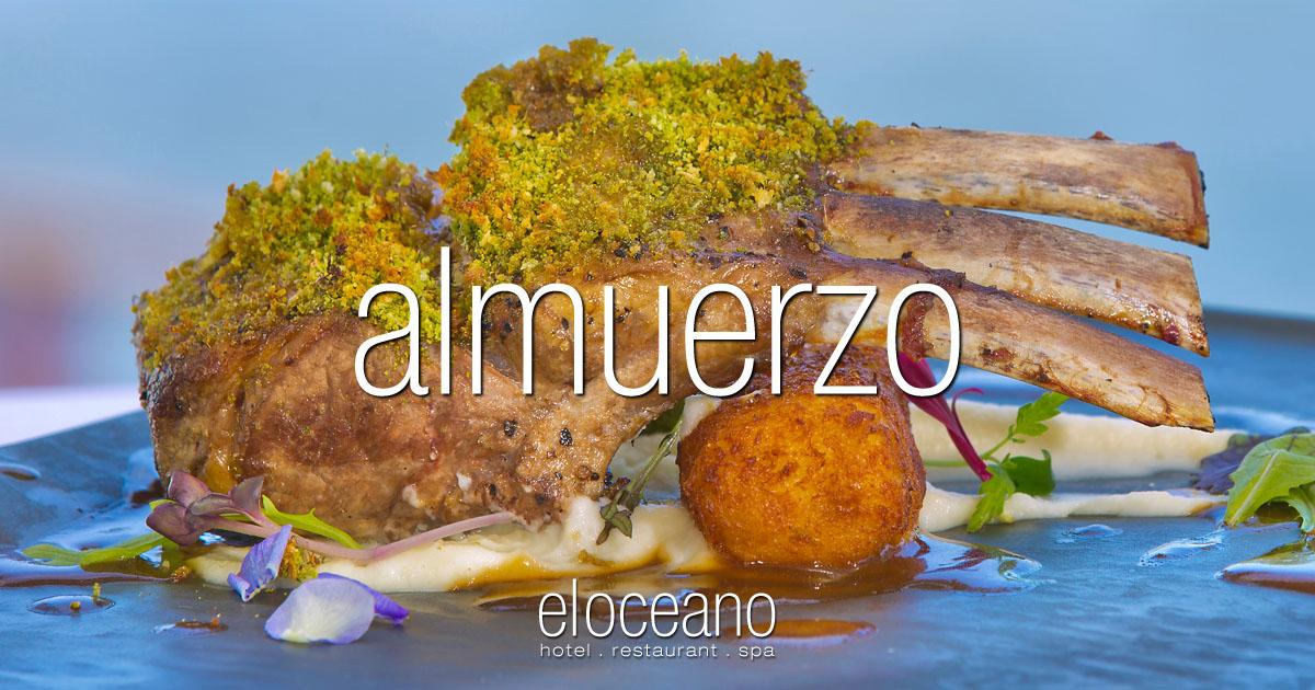 Menú de almuerzo en el restaurante El Oceano Restaurante OG01