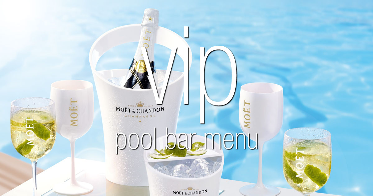 VIP Pool Bar Menu - El Oceano Hotel Mijas Costa Costa del Sol Spain OG02