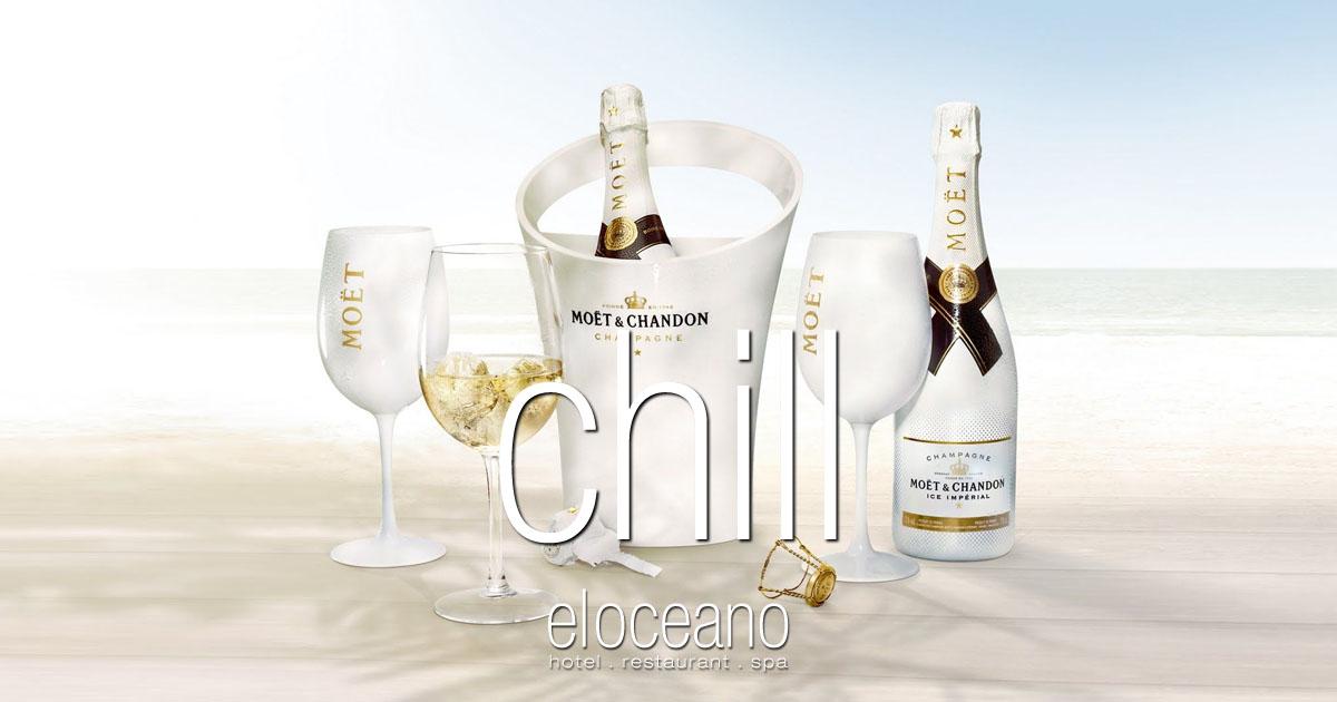 VIP Sunbeds and Chilled Champagne - April at El Oceano Hotel, Mijas Costa, Spain OG01
