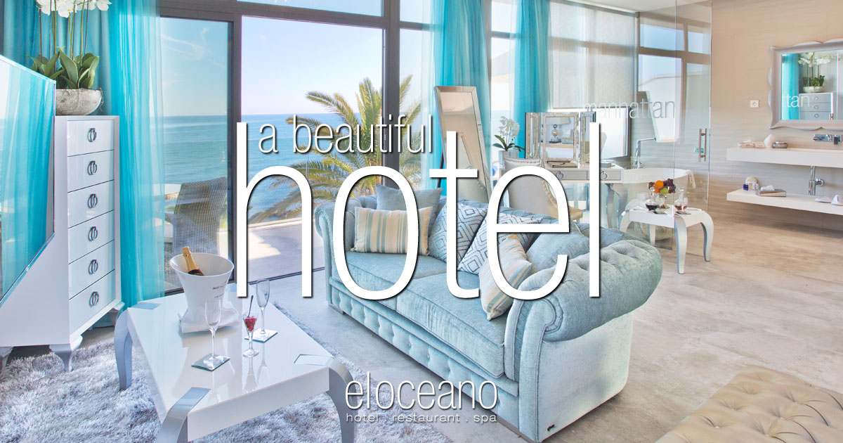 A Beautiful Beach Hotel on Spains Costa del Sol - El Oceano Hotel Restaurant Martini Lounge OG01