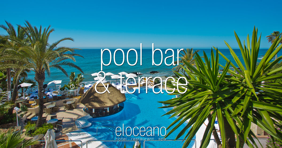 Pool Bar and Sun Terrace El Oceano Luxury Beach Hotel Mijas Costa Spain OG01