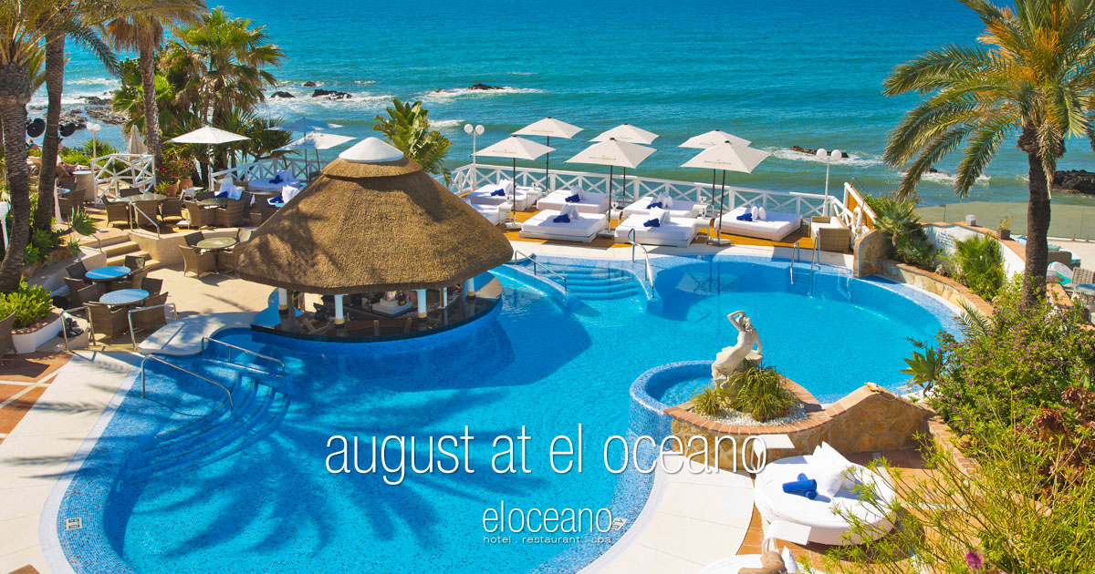 August at El Oceano Luxury Beach Hotel, Mijas Costa, Spain OG01