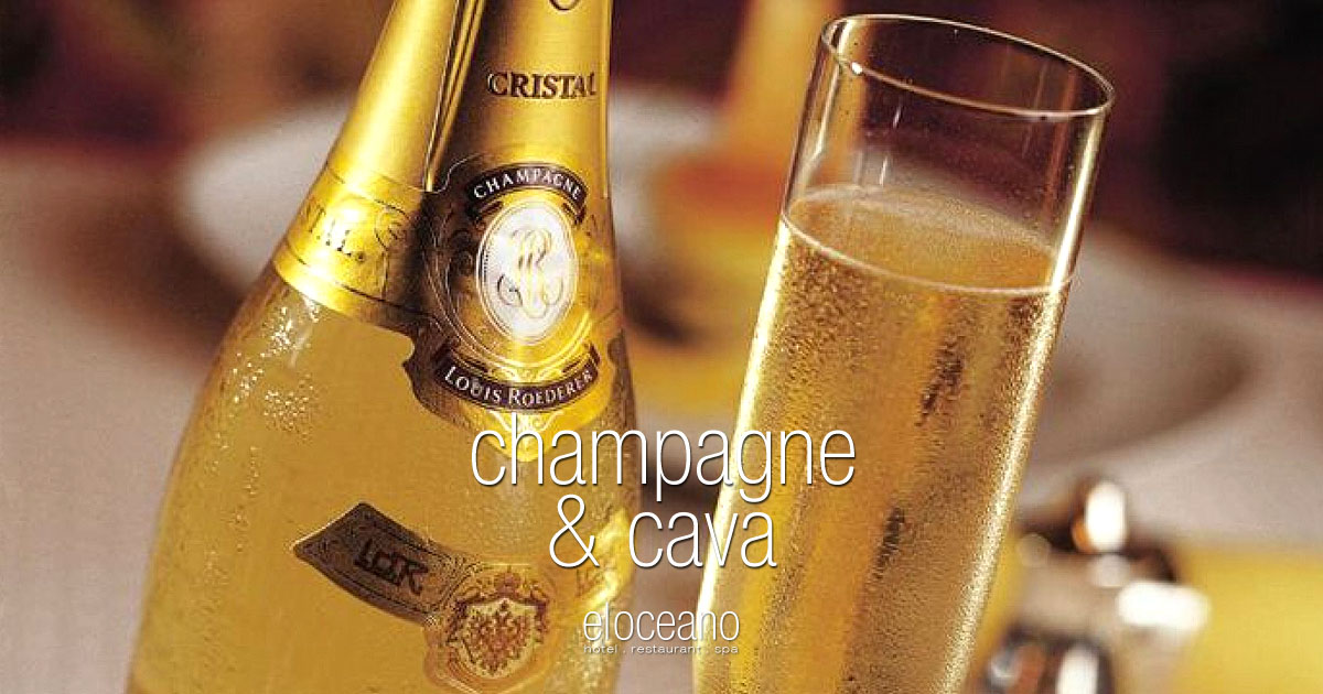 Champagne Cava Wine Menu El Oceano Hotel Restaurant Mijas Costa Spain OG01