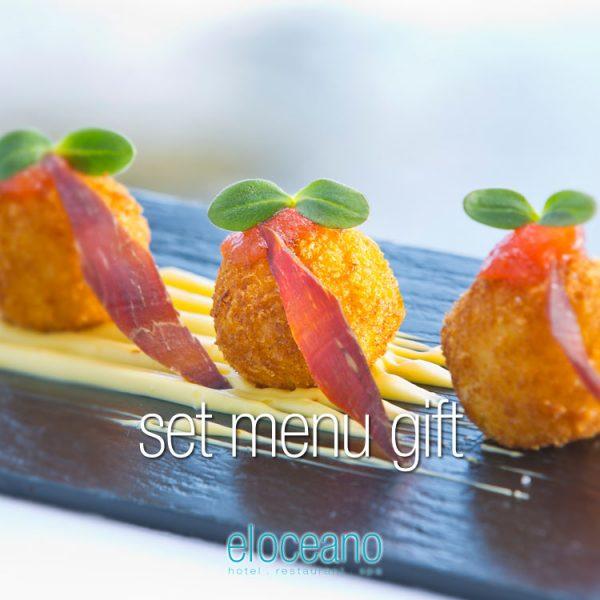 Set Menu Gft - Luxury Gifts Vouchers, El Oceano Hotel Restaurant P01