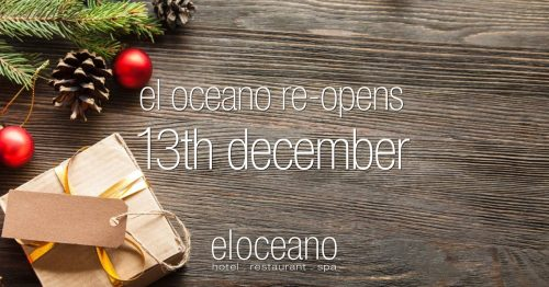 El Oceano Re-Opens 3th December