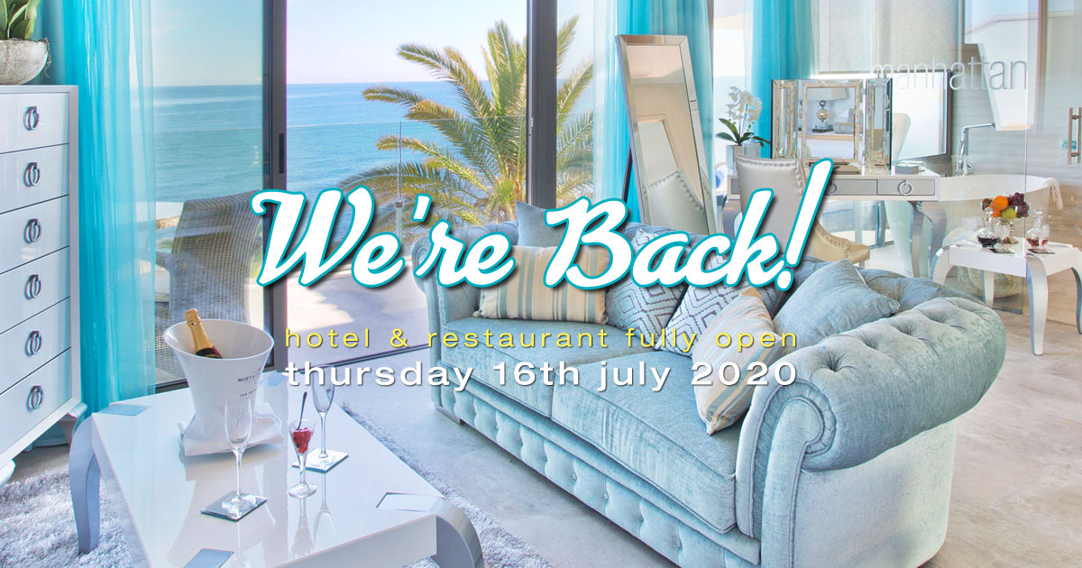 Hotel Re-Opens for 2020 Thursday 16th July 2020 OG01