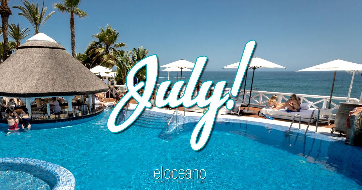 July at El Oceano Luxury Beach Hotel Mijas Costa Spain OG01