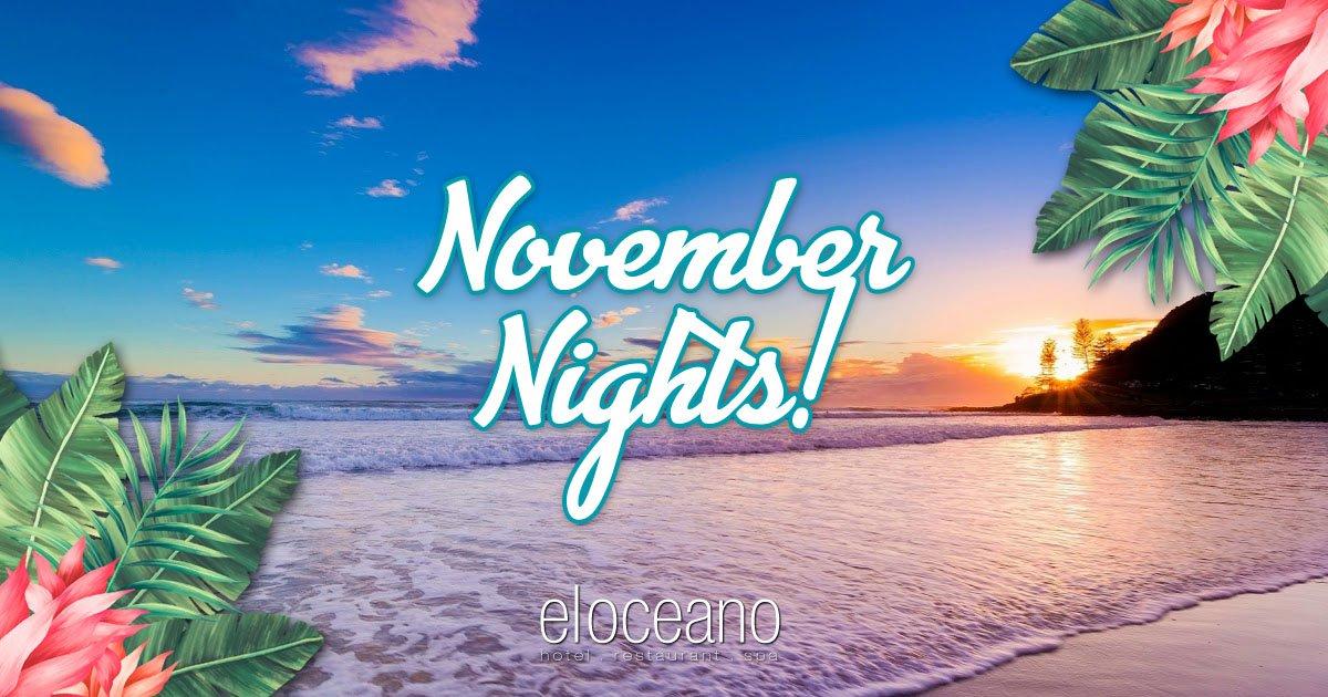 November Nights - Special Low Season Rates at El Oceano Hotel